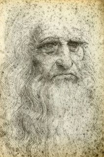 Self-Portrait. 1512. Biblioteca Reale in Turn. Photo from Bigstock.com