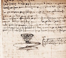 Flying Machine from Leonardo's notebooks. Photo from Bigstock.com