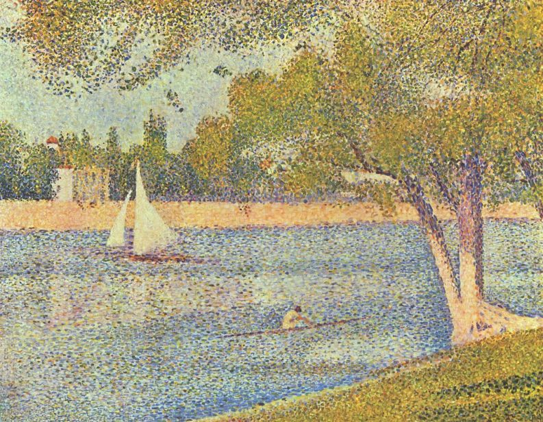 The Seine and la Grande Jatte by Georges Seurat. Courtesy of the Royal Museums of Fine Arts of Belgium