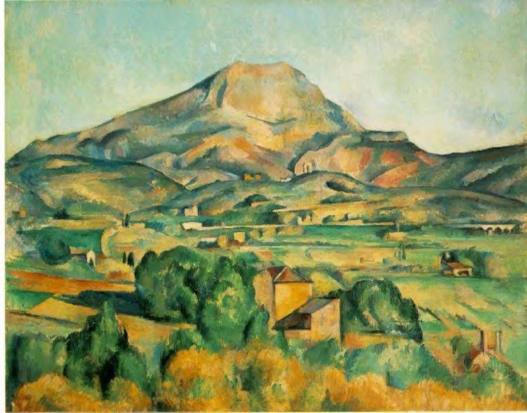 La Montagne Saint Victoire by Cezanne. Courtesy of the Barnes Foundation in Pennsylvania