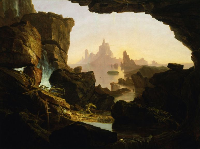 Subsiding of the Waters of the Deluge by Thomas Cole. Courtesy of Smithsonian American Art Museum in Washington, DC