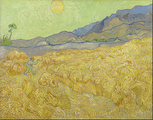 Wheat field with a Reaper by Vincent Van Gogh. Courtesy of the Van Gogh Museum in Amsterdam