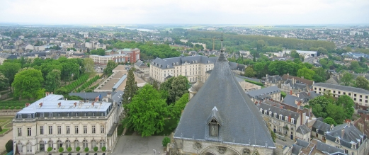 View On The City From The Saint Etienne Cathedral Church Tower,