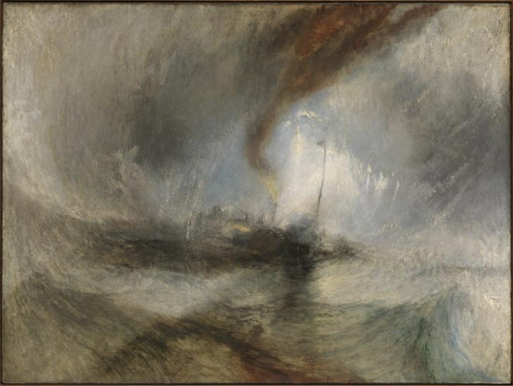 Snow Storm by JWM Turner. Courtesy of the Tate in London, England
