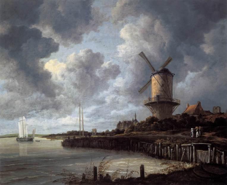 Windmill at Wijk bij Duurstede by Jacob Isaackszon van Ruisdael. Courtesy of the Rijksmuseum in Amsterdam