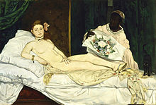 Olympia by Edouard Manet. Musee d'Orsay in Paris