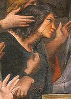 Felice as seen in Raphael's Mass at Bolsena in the Vatican