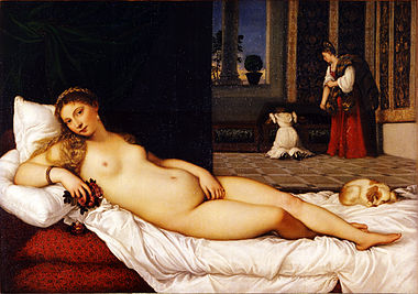 Venus of Urbino by Titian. Uffizi Gallery