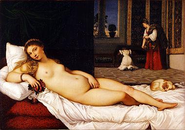 Venus of Urbino by Titian. Uffizi Gallery