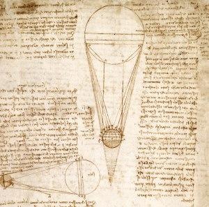 The Codex Leceister [detail], 1510. Leonardo Da Vinci, Italian Codex manuscript. Courtesy Bill Gates / ©bgC3