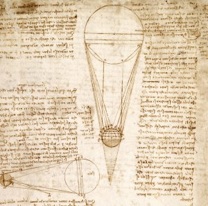 The Codex Leceister [detail], 1510. Leonardo Da Vinci, Italian Codex manuscript. Courtesy Bill Gates / ©bgC3