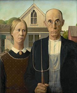 American Gothic by Grant Wood. Art Institute of Chicago