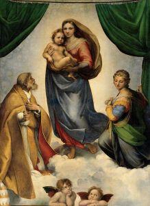 800px-RAFAEL_-_Madonna_Sixtina_(Gemäldegalerie_Alter_Meister,_Dresde,_1513-14._Óleo_sobre_lienzo,_265_x_196_cm)