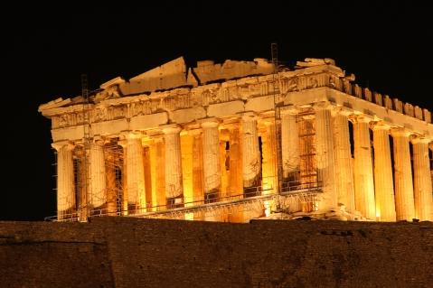 Night View Of Parthenon