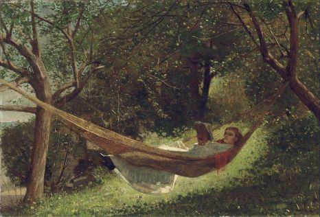 Girl in a Hammock by Winslow Homer