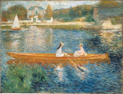 London National Gallery Top 20 17 Pierre-Auguste Renoir - Boating On the Seine