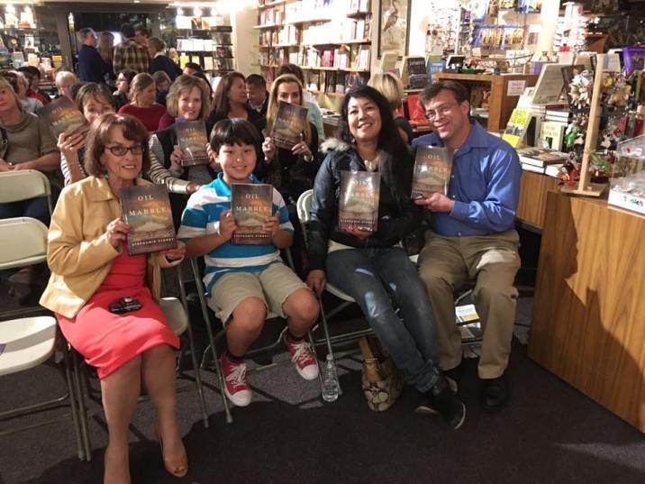 Warwicks Crowd w books Oil and Marble