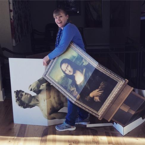 Oil and Marble David and Mona Lisa