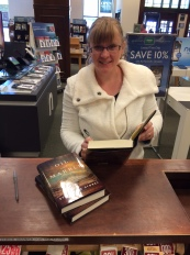 Signing at Barnes and Noble Oil and Marble