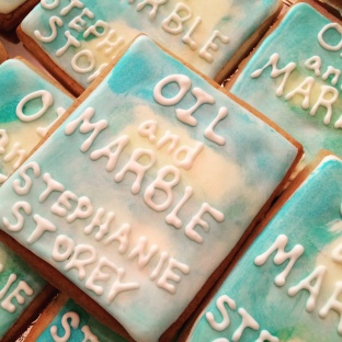 Oil and Marble book club cookies