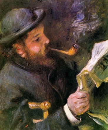 claude-monet-reading-1872 by renoir