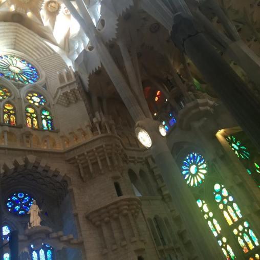 gaudi sagrada familia stained glass