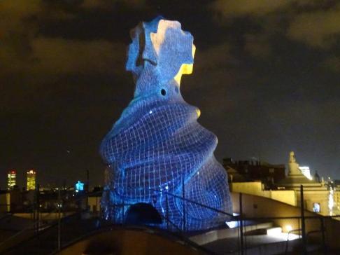 rooftop of casa mila la pedera gaudi