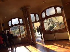 interior of casa batllo gaudi windows
