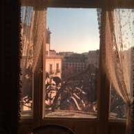 window of gaudi apartment in la pedera casa mila