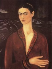 self-portrait-in-a-velvet-dress frida kahlo